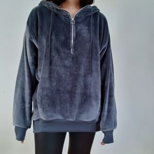 NWT Express Oversized Velour Hoodie
